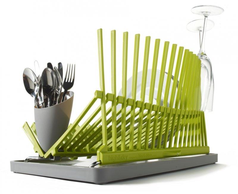 Сушилка для посуды High&Dry, зеленая, Black+Blum - интернет магазин Акваль